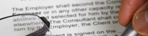Section of employment contract