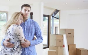 Couple forced to move home through financial problems