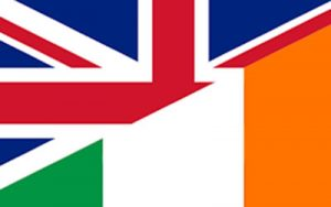 Union Jack and Irish Flag